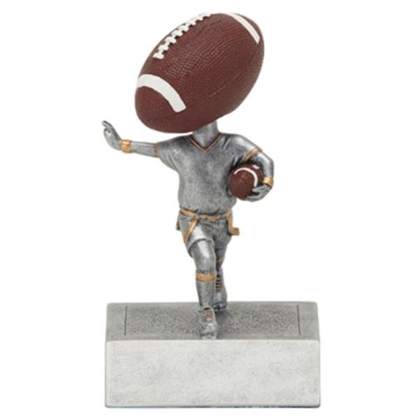 Football Star Figure Trophy with 3 Lines of Custom Text