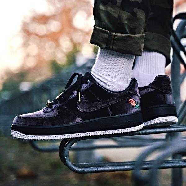 Details about Nike Air Force 1 Satin Rose Black White Size 7 8 9 10 11 12 Mens AH8462 003