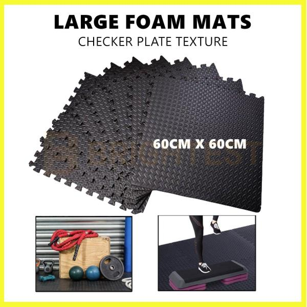 RUBBER PUZZLE MAT GYM FITNESS FLOOR EXERCISE INTERLOCKING RUG TILES HEAVY DUTY
