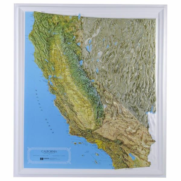 Oregon State Raised Relief Map Natural Color Relief Style