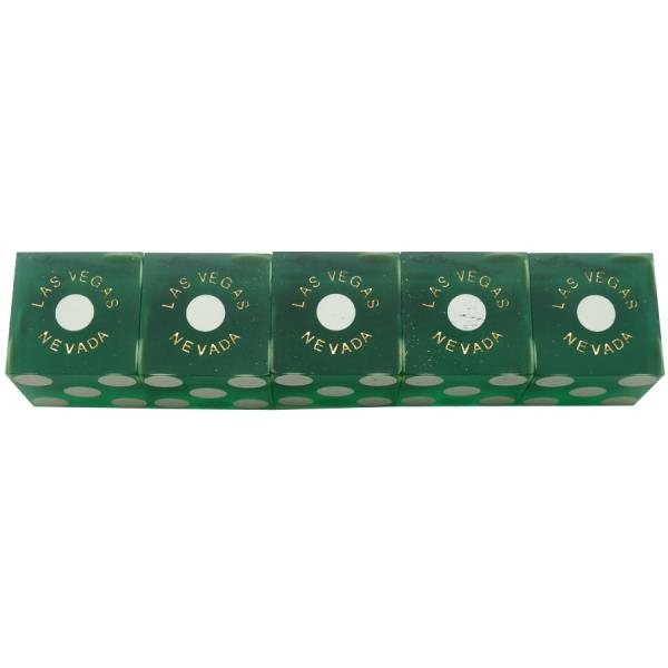 Binion/'s Stick of 5 Used Casino Dice Las Vegas GREEN Casino Dice