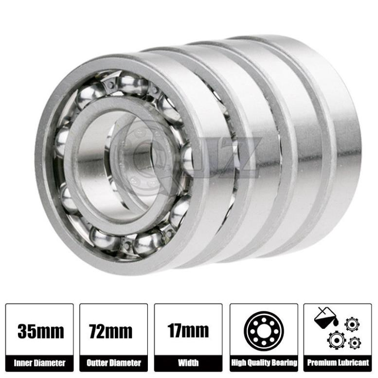 R8-OPEN Ball Bearing 1//2/'/' x 1-1//8/'/' x 1//4/'/' w// Double Sided Open Seal 100pc