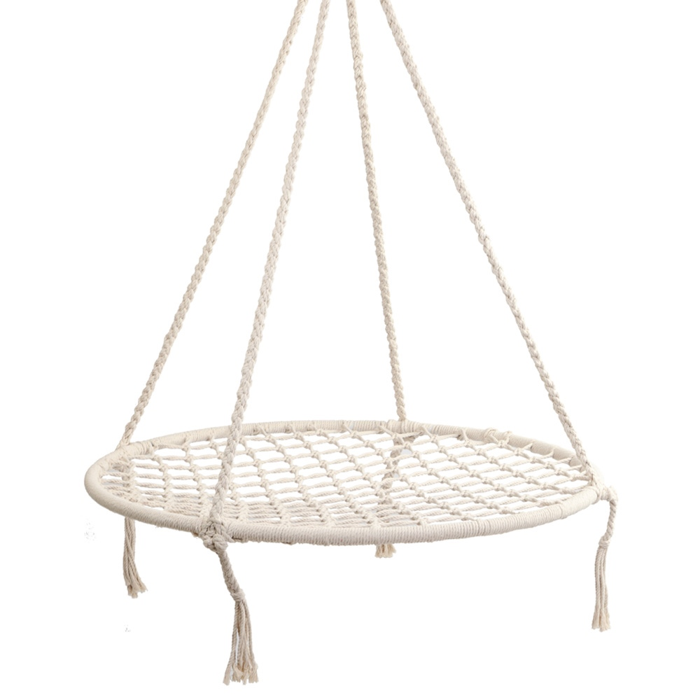 Terrific Details About Indoor Outdoor Hanging Hammock Round Nest Swing Chair Kids Adult Rope Seat Creativecarmelina Interior Chair Design Creativecarmelinacom