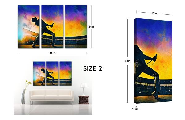 3Pcs Kobe Bryant Lakers Print Painting Picture Wall Art Split Canvas Home Décor