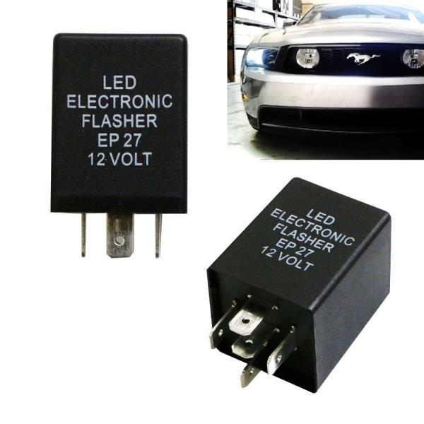 1 iJDMTOY 5-Pin EP27 FL27 Electronic LED Flasher Relay Fix For LED Turn Signal Bulbs Hyper Flash Fix