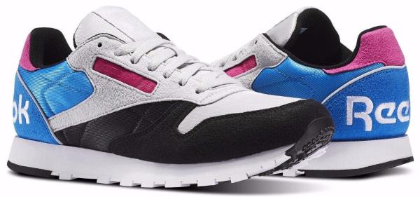 Details about [BS6198] Mens Reebok Classic Leather WB Sneaker Black Grey Blue Pink