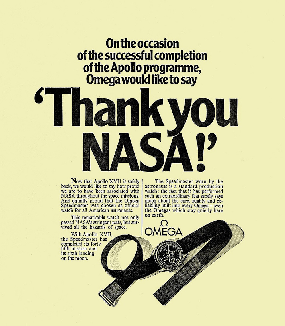 ExpertsWatches.com Omega AD Thank you NASA