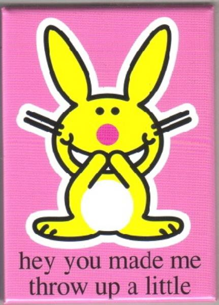 Happy Bunny Figure me want hurt you Refrigerator Magnet NEW UNUSED