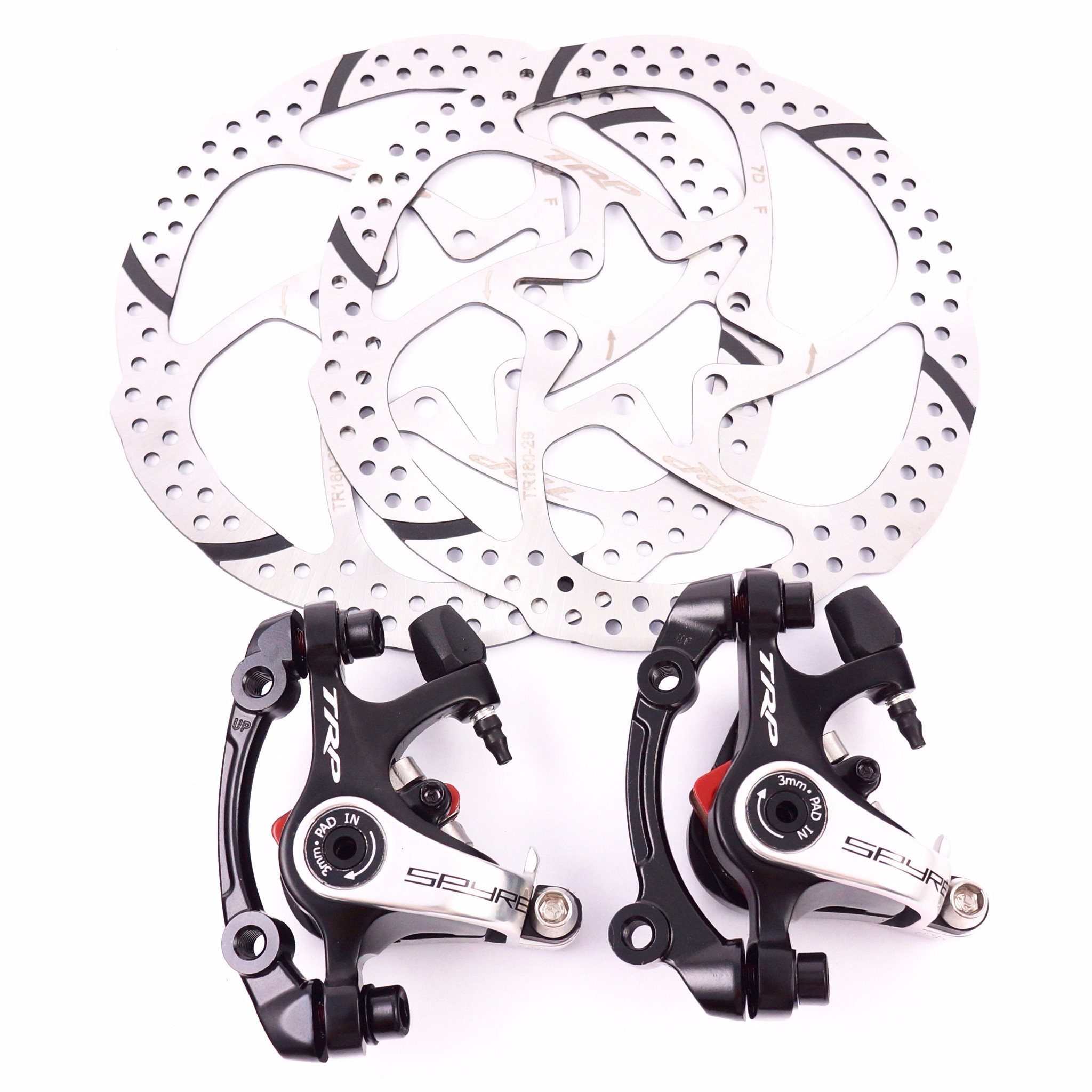 SINGLE TRP SPYKE *REAR 160mm* mechanical disc brake Dual Side Actuation MTB bike