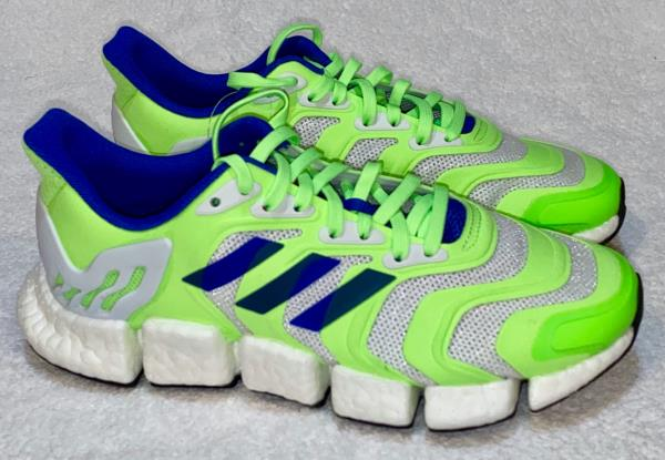 ADIDAS Climacool Vento Signal Green Blue White Running Shoes NEW ...