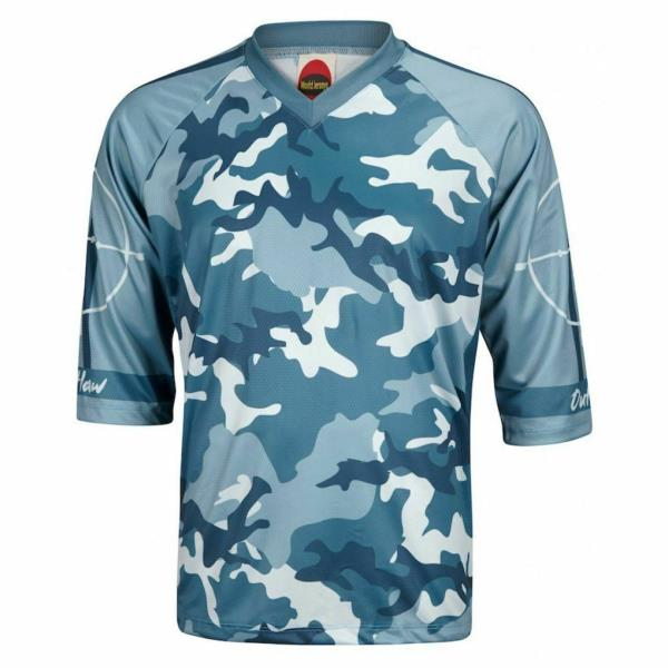 Outlaw Green Camo Men/'s Mountain Bike Jersey 3//4 length sleeve loose fit casual