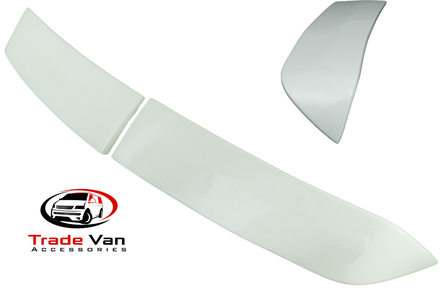 VW T5 TRANSPORTER REAR SPOILER TWIN BARN DOORS PAINTED CANDY WHITE CARAVELLE