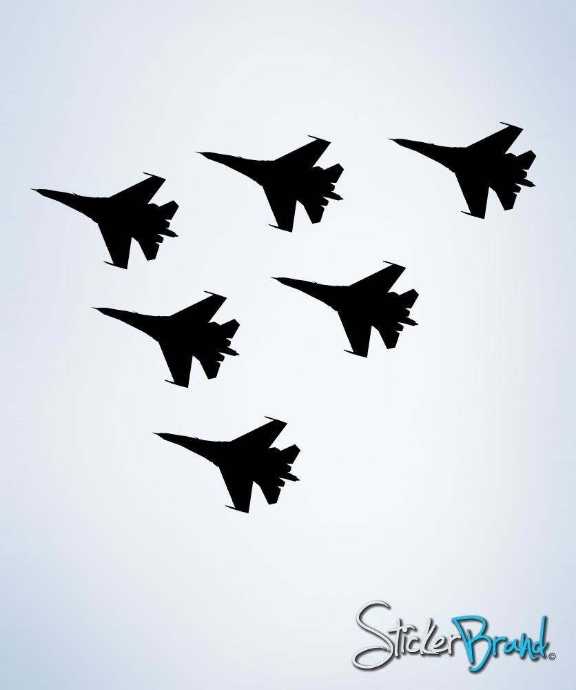 Vinyl Wall Decal Sticker 6 Military Fighter Jets Decal 228 Ebay