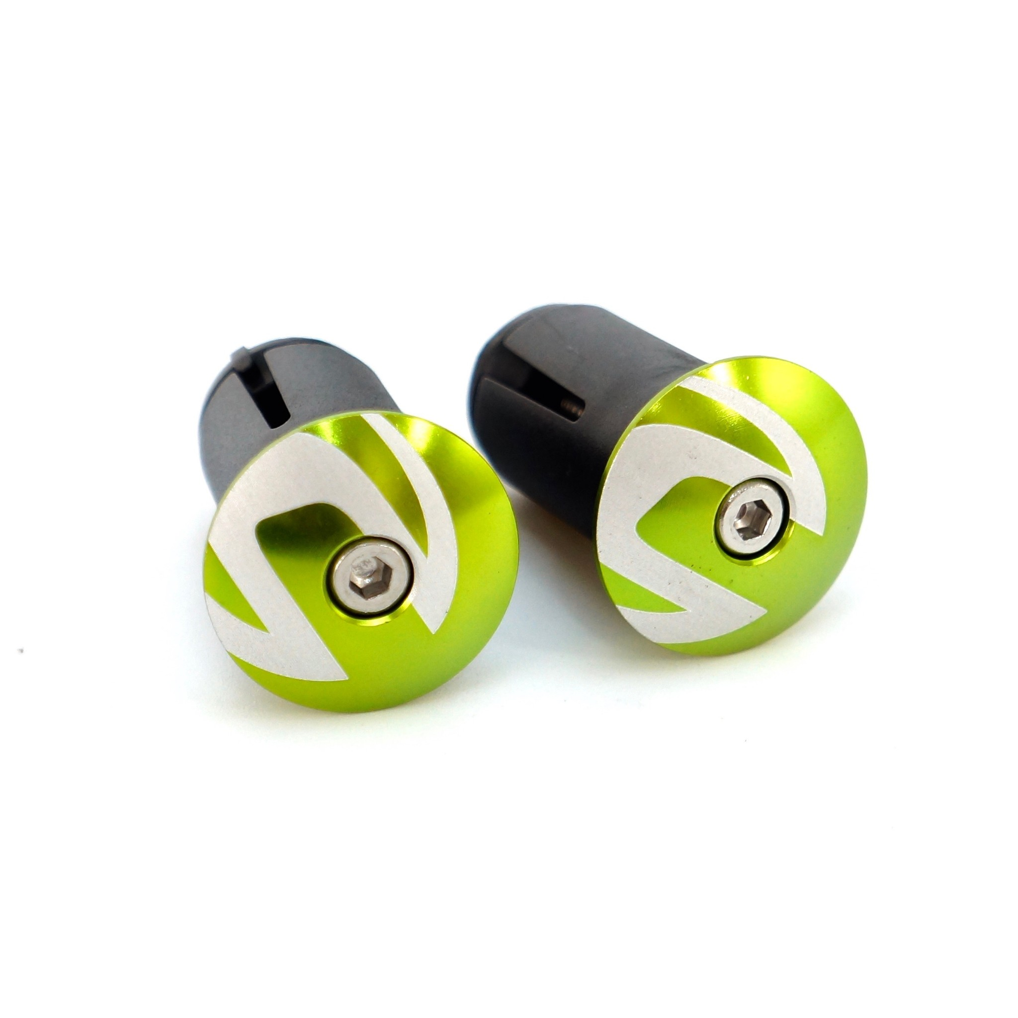 2HB20//GRN Cannondale Route Guidon Vert Fin Plugs