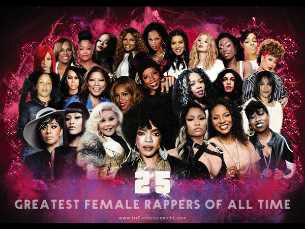 Details About 25 Greatest Female Rappers Of All Time Poster 24x18
