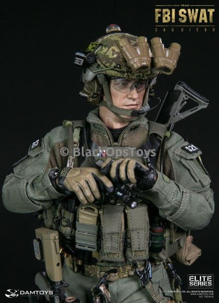 1//6 Scale Toy FBI Special Weapons and Tactics Team agent OD GREEN San Diego version 30rd Mag Pouch x1