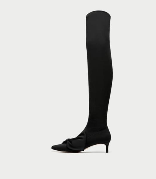 Knee Boots w/Bow Detail (Size