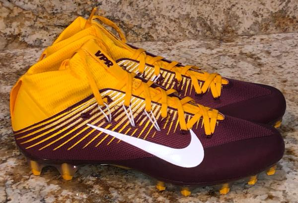 maroon and gold youth football cleats