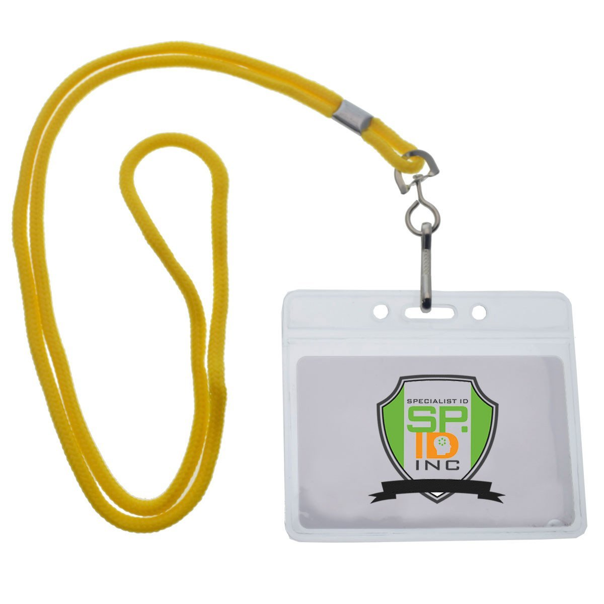 Premium Vertical ID Name Badge Holders with Lanyards by Specialist ID 25 Pack