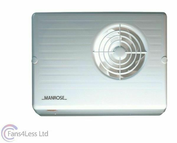 """4/"""" 3 x Manrose CF200T Centrifugal Bathroom Extractor Fans with run on Timer"""