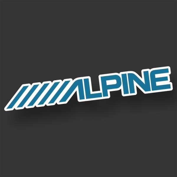 """ALPINE 2x 8/"""" car audio speakers stereo Amplifier sounds decal sticker stickers"""