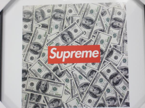 Supreme Framed Limited Edition Money Picture By Fairchild Paris 12x12