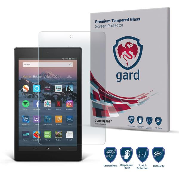 """Genuine Tempered Glass Screen Protector For Amazon Kindle Fire HD 8/"""" 2018"""