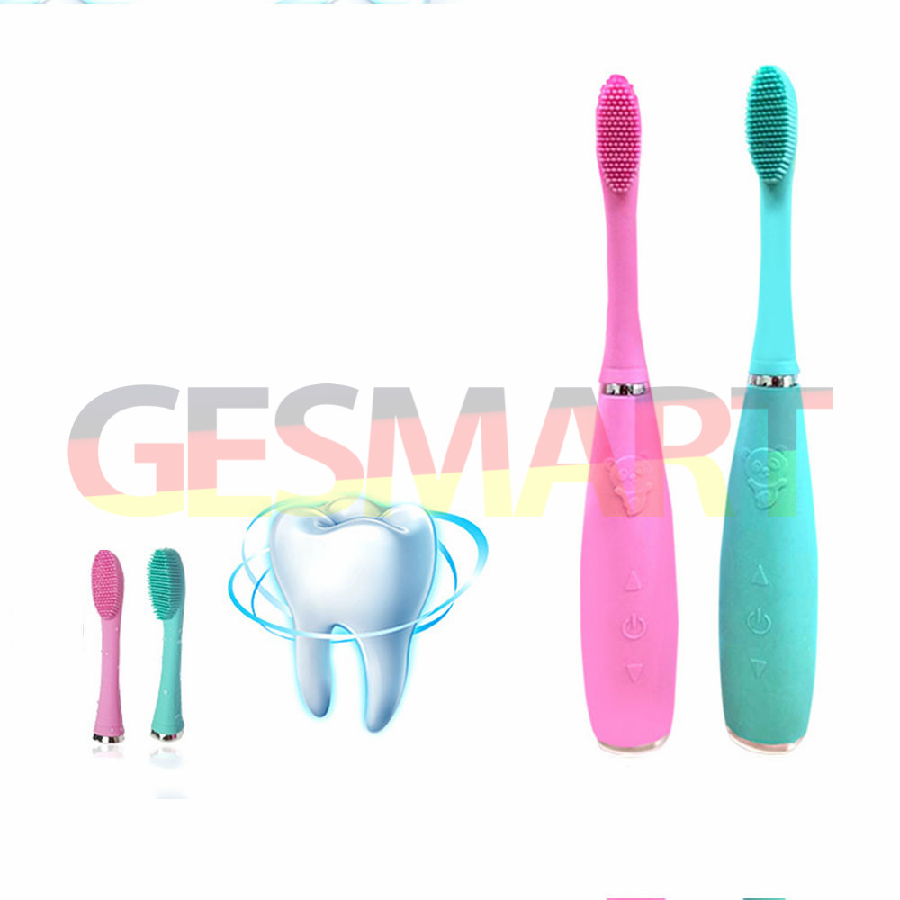 GESMART Electric Silicone Ultrasonic Whitening Toothbrush Oral Care Rechargeable