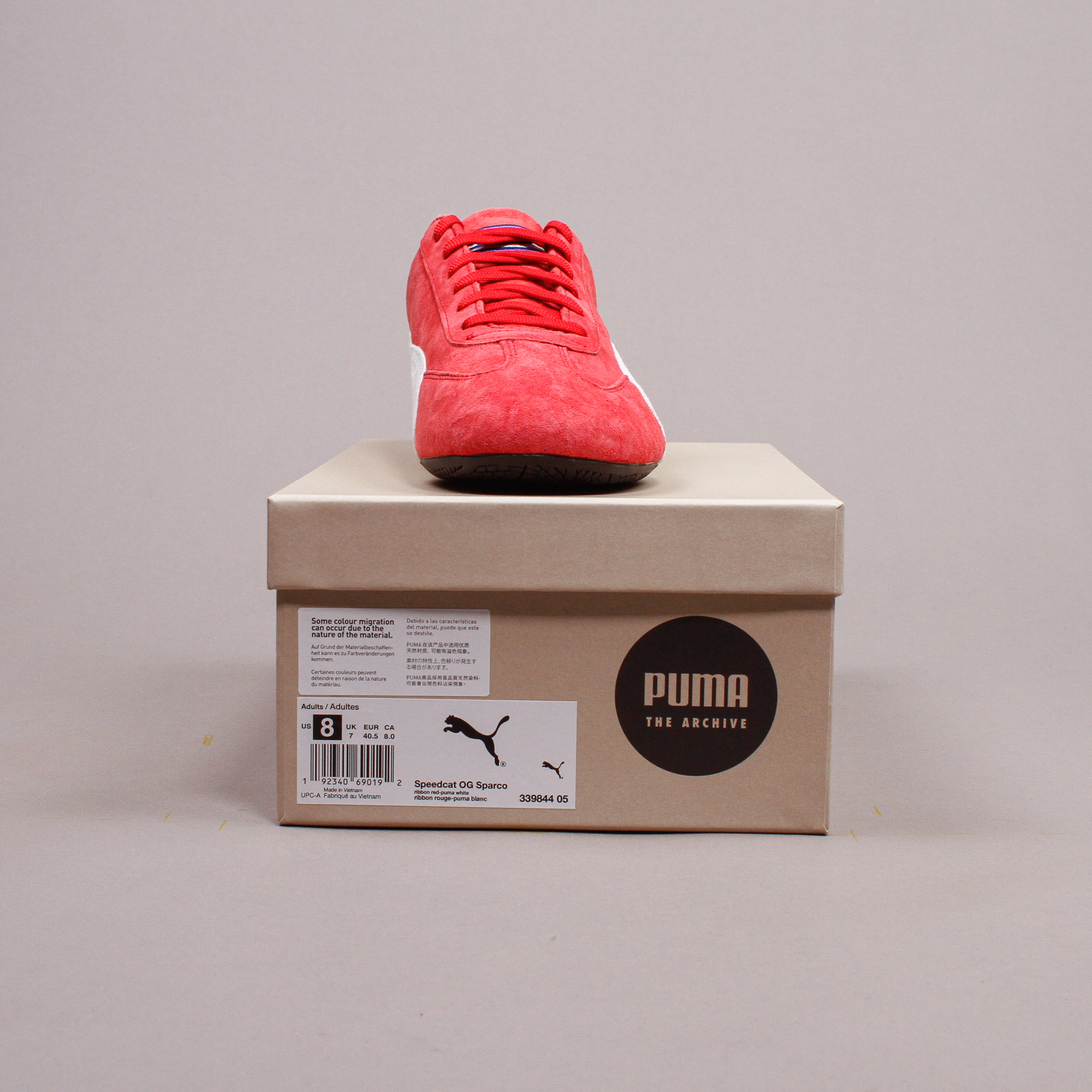 Puma Speedcat OG Sparco Red White Men New Shoes Racing Driving ...