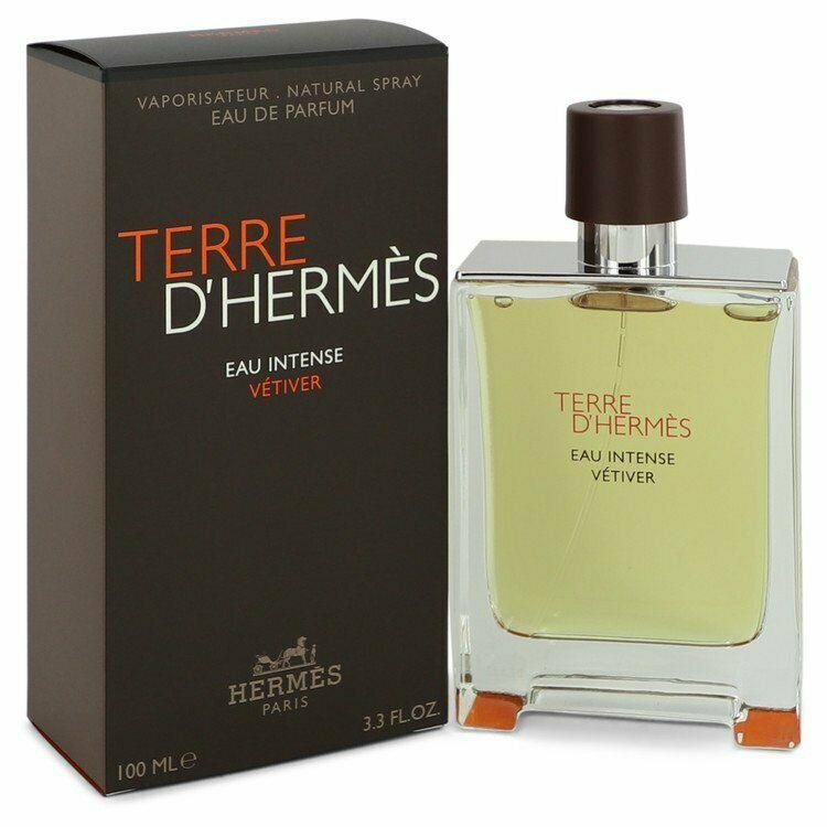 Detalles de Terre D'hermes Eau Intense Vetiver Hermes EDP Spray 3.3 oz 100 ml (M)