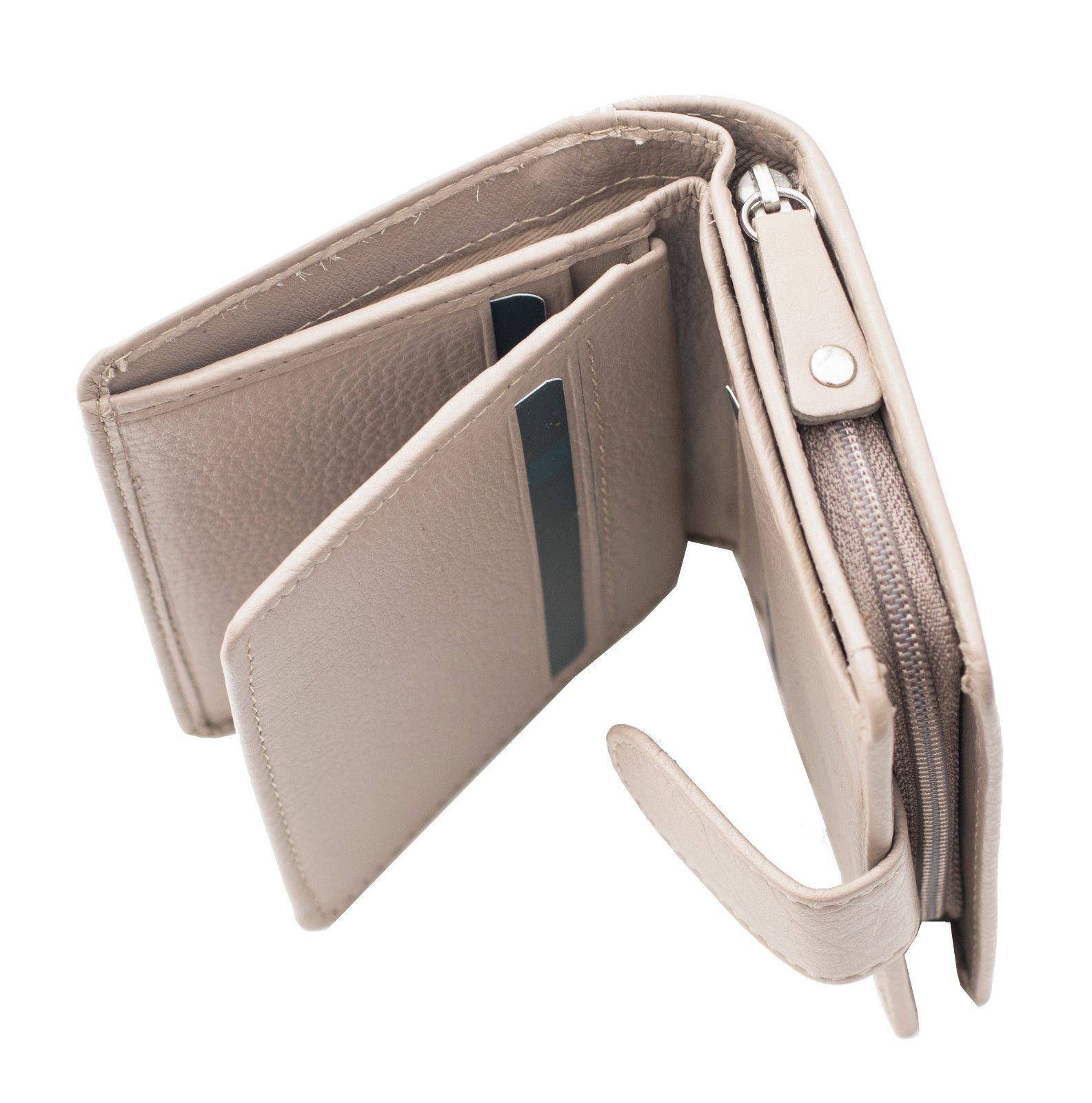 Prime Hide Windermere Women/'s Small Taupe Leather Purse Wallet New