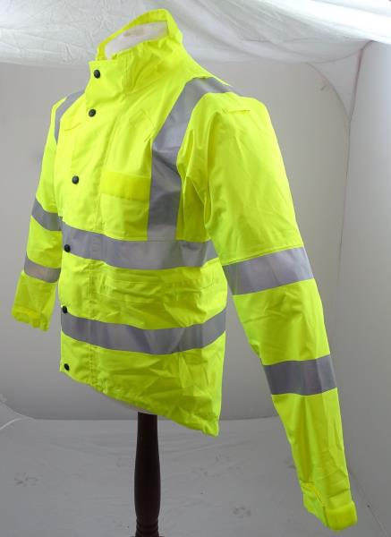 Ex Police Hi Vis KiT Cycling Jacket With Reflective Strips /& Scooped Back