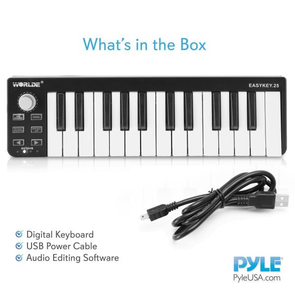 SOUFV pallet ordering Pyle USB MIDI Keyboard Controller Portable Recording