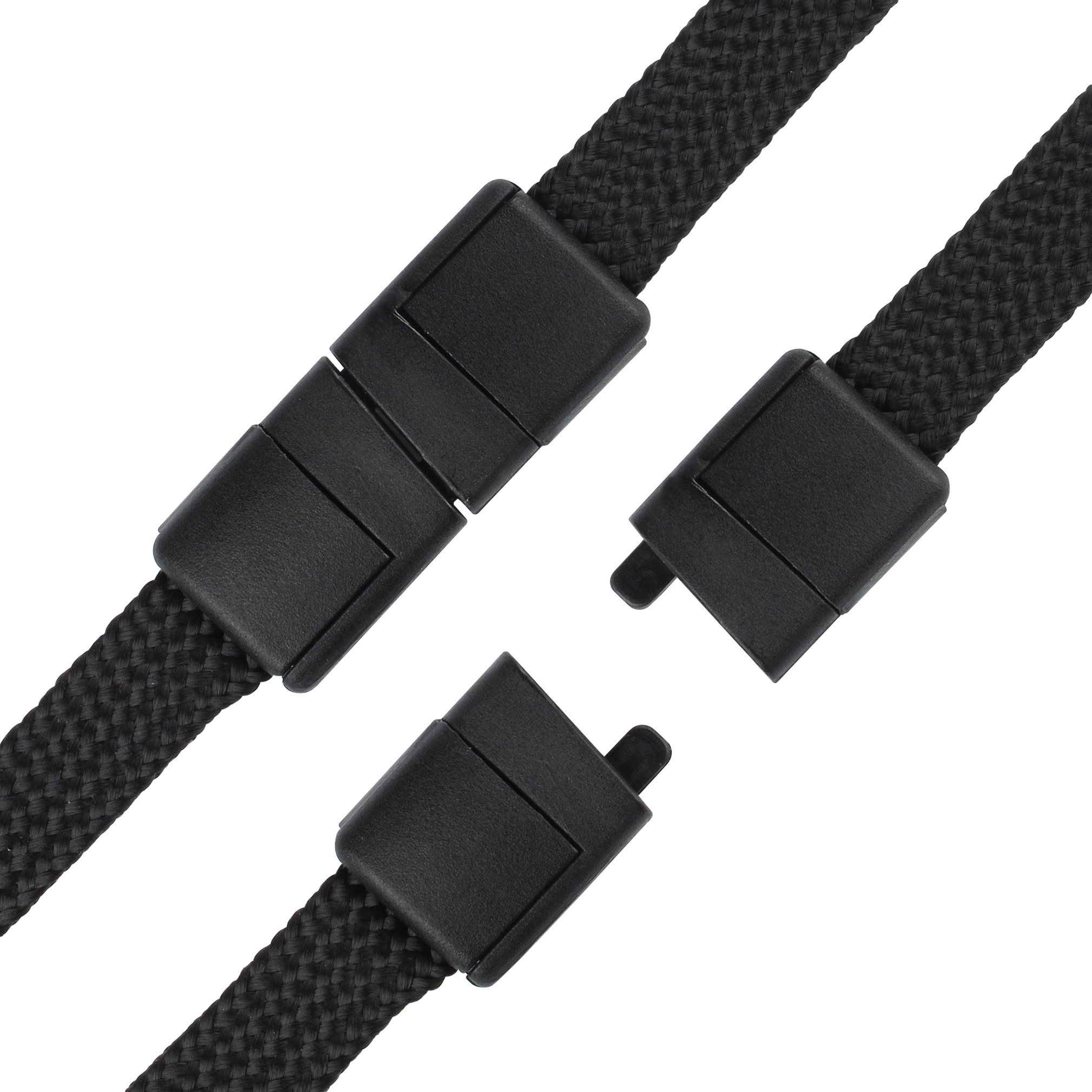 10 Pack Black Lanyards with Safety Breakaway Clasp /& Bulldog Clip