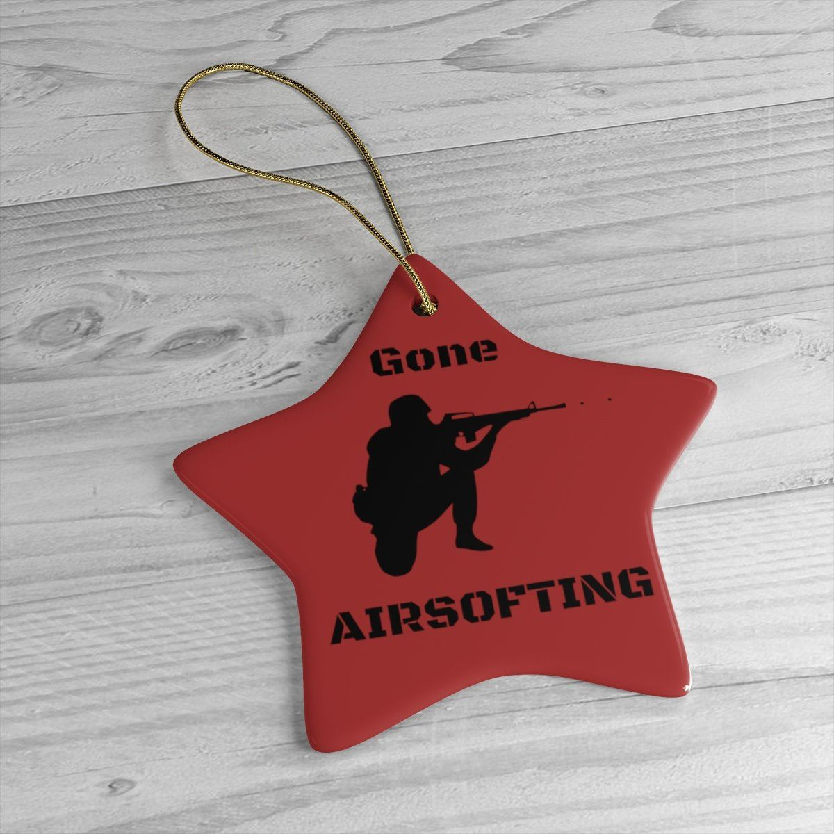 Gone Airsofting NEW Oval Christmas Ceramic Tree Ornament Airsoft Present