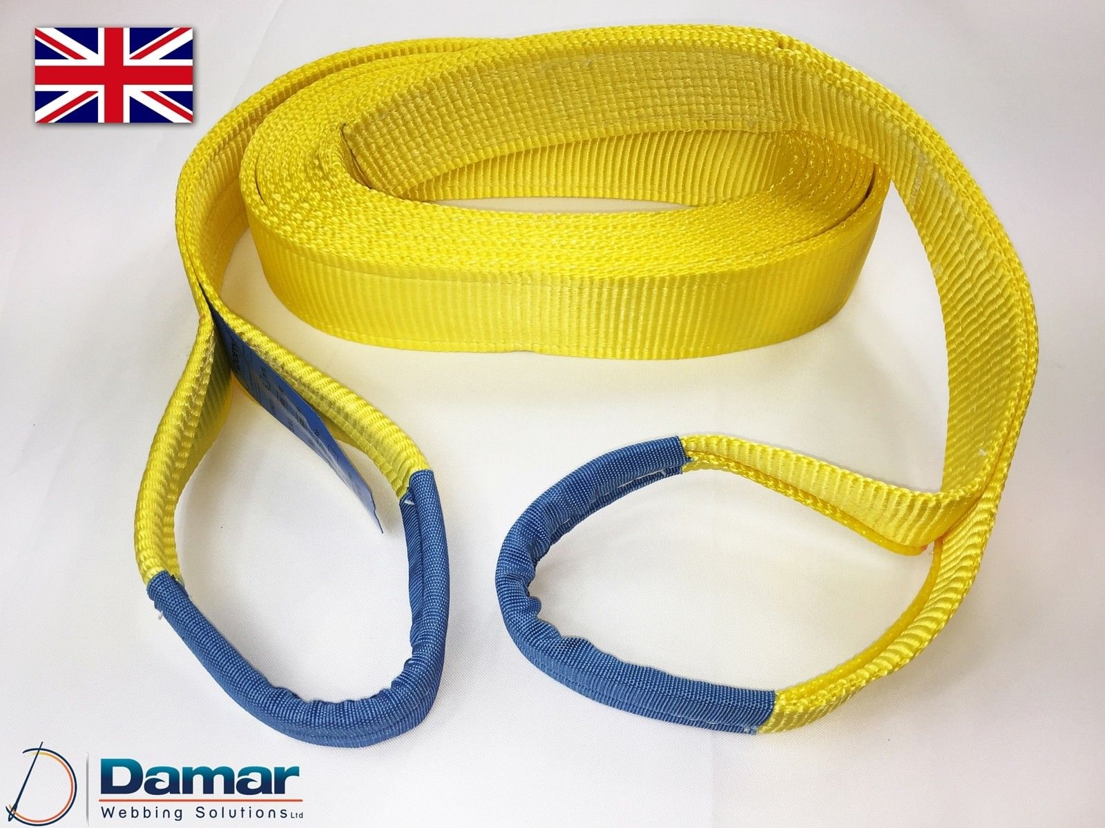 2t 3Mtr Lifting Slings 4x4 Tow rope
