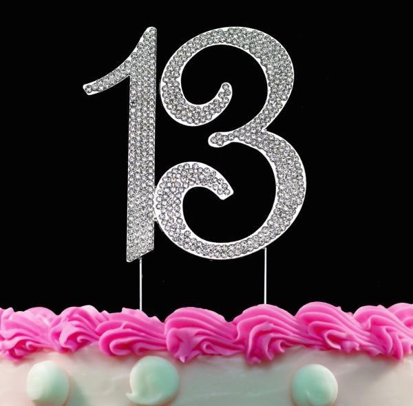 Pleasant 13Th Birthday Cake Toppers Bling Birthday Or Anniversary Party Funny Birthday Cards Online Eattedamsfinfo