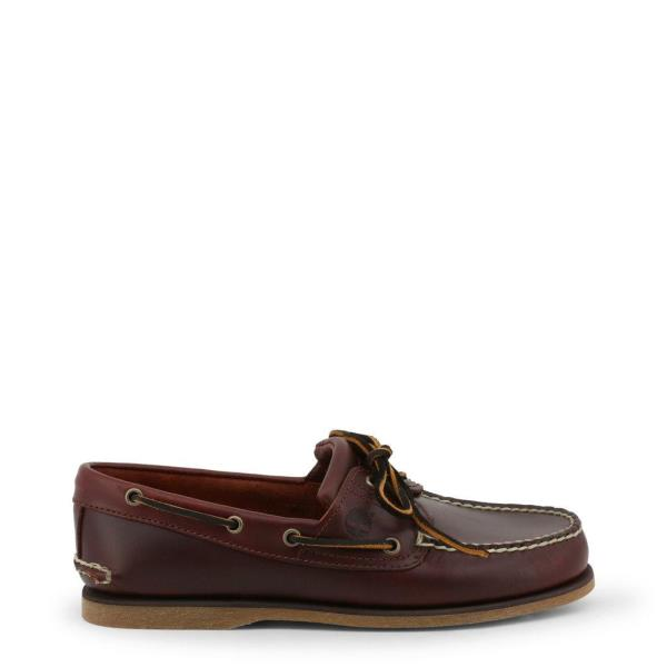 Timberland CLASSICBOAT Men Loafers Brown Leather Moccasins Flat Slip On Shoes