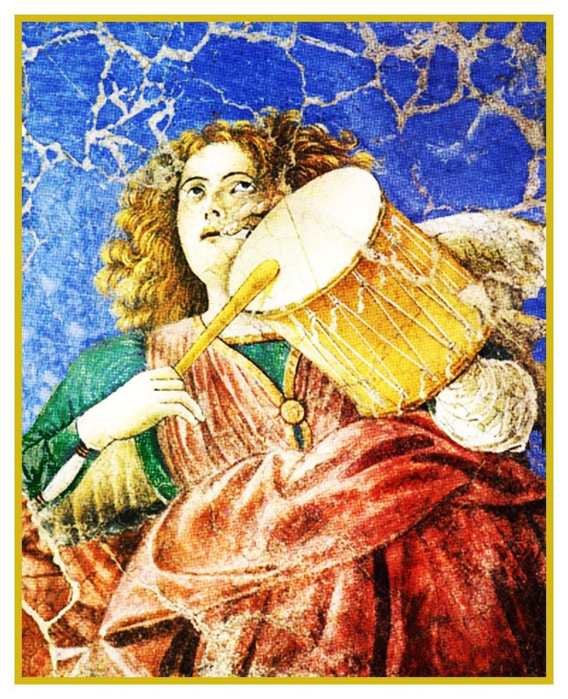Melozzo da Forlì Choir of Angels Counted Cross Stitch Chart Pattern
