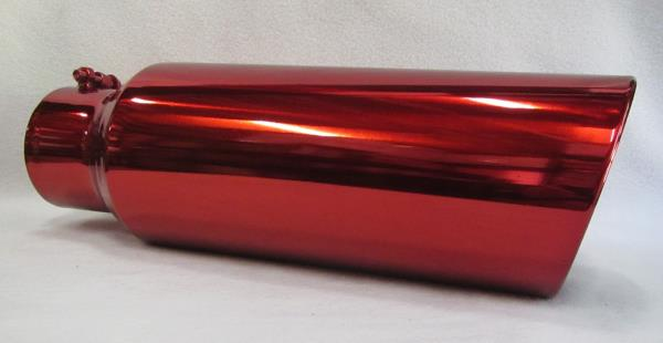 """Exhaust Tip 5/"""" In x 8/"""" Out x 18/"""" Long GLOSS BLACK CUSTOM"""