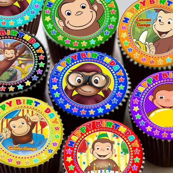 Pleasing Curious George Precut Edible Happy Birthday Cake Topper Decoration Funny Birthday Cards Online Sheoxdamsfinfo