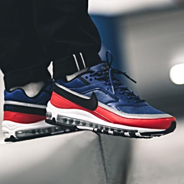 Nike Air Max 97 Bw Deep Blue Red Size 7 8 9 10 11 12 Mens Shoes