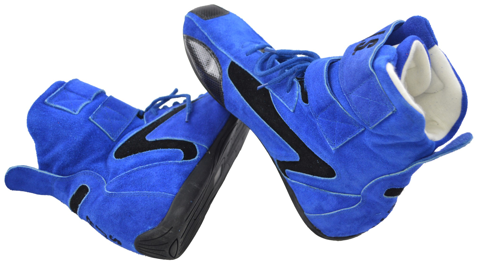 RACERDIRECT.NET RJS Racing Safety Equipment Blue HI TOP Shoes Boots SFI 3.3//5 US Mens Size 15