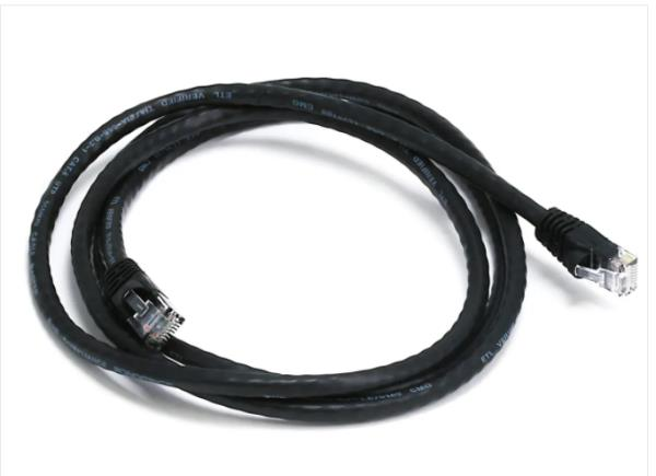 UTP Cat5 Patch Cable 70 Ft, BLACK 100/% Copper 24Awg