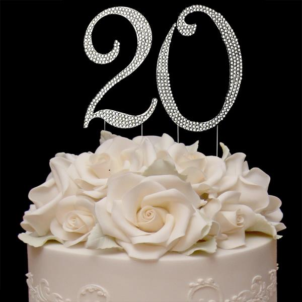 Stupendous 20Th Birthday Cake Toppers Bling Birthday Cake Topper Real Personalised Birthday Cards Veneteletsinfo