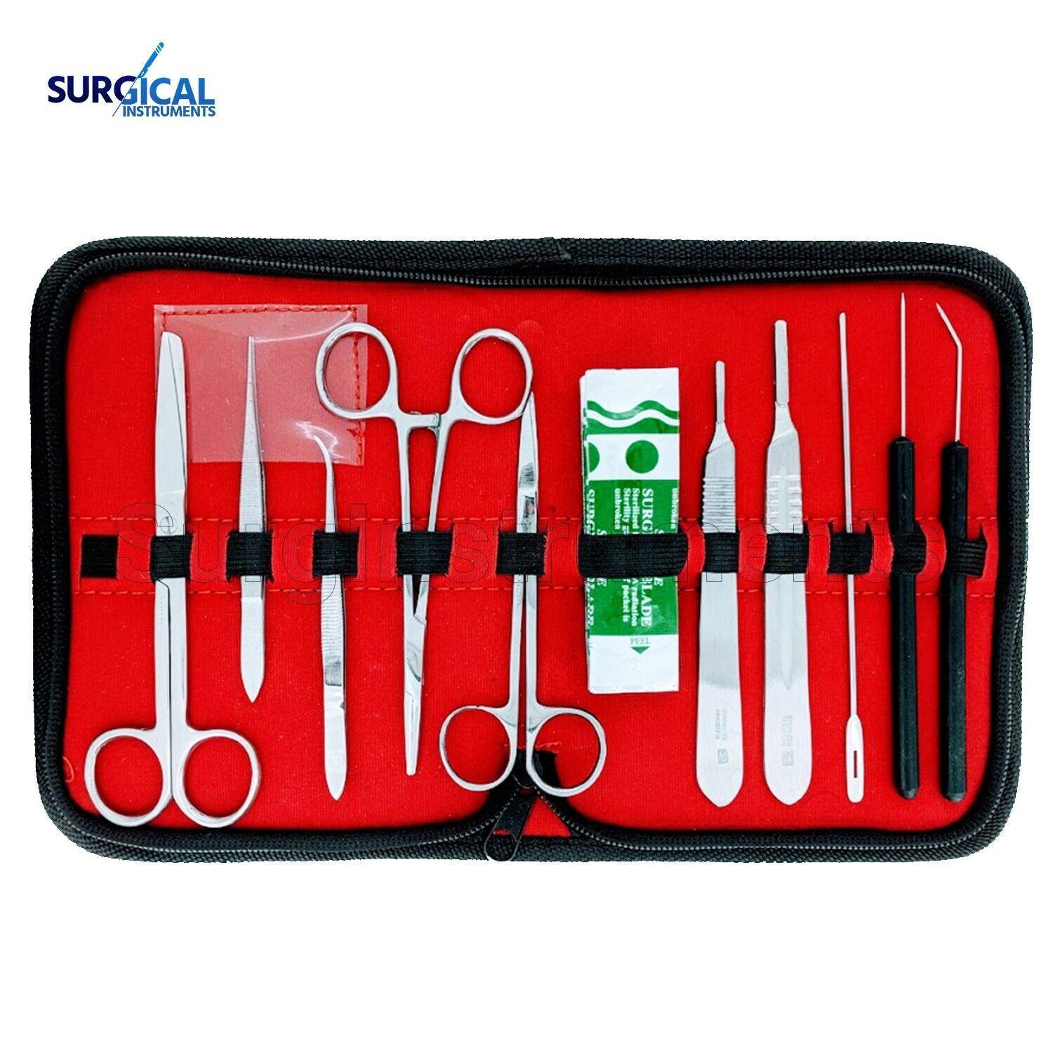 7pcs Stainless Steel Dissecting Dissection Kit Set Biology Student Lab Tools with Storage Bag Suitable for Laboratory Work Dissection Tools Kit
