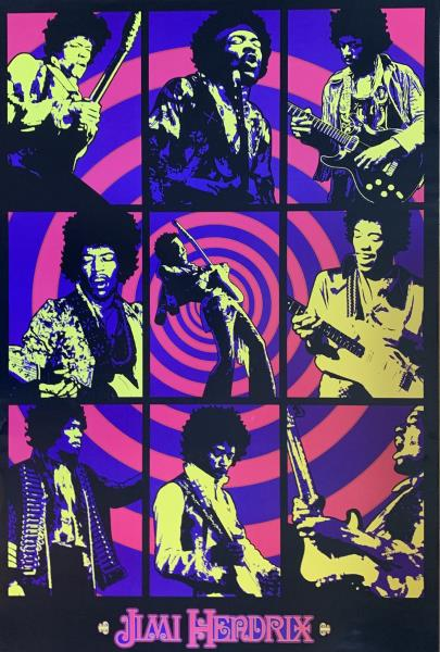 Jimi Hendrix Experience Concert Promo Reproduction Poster 24 X 36