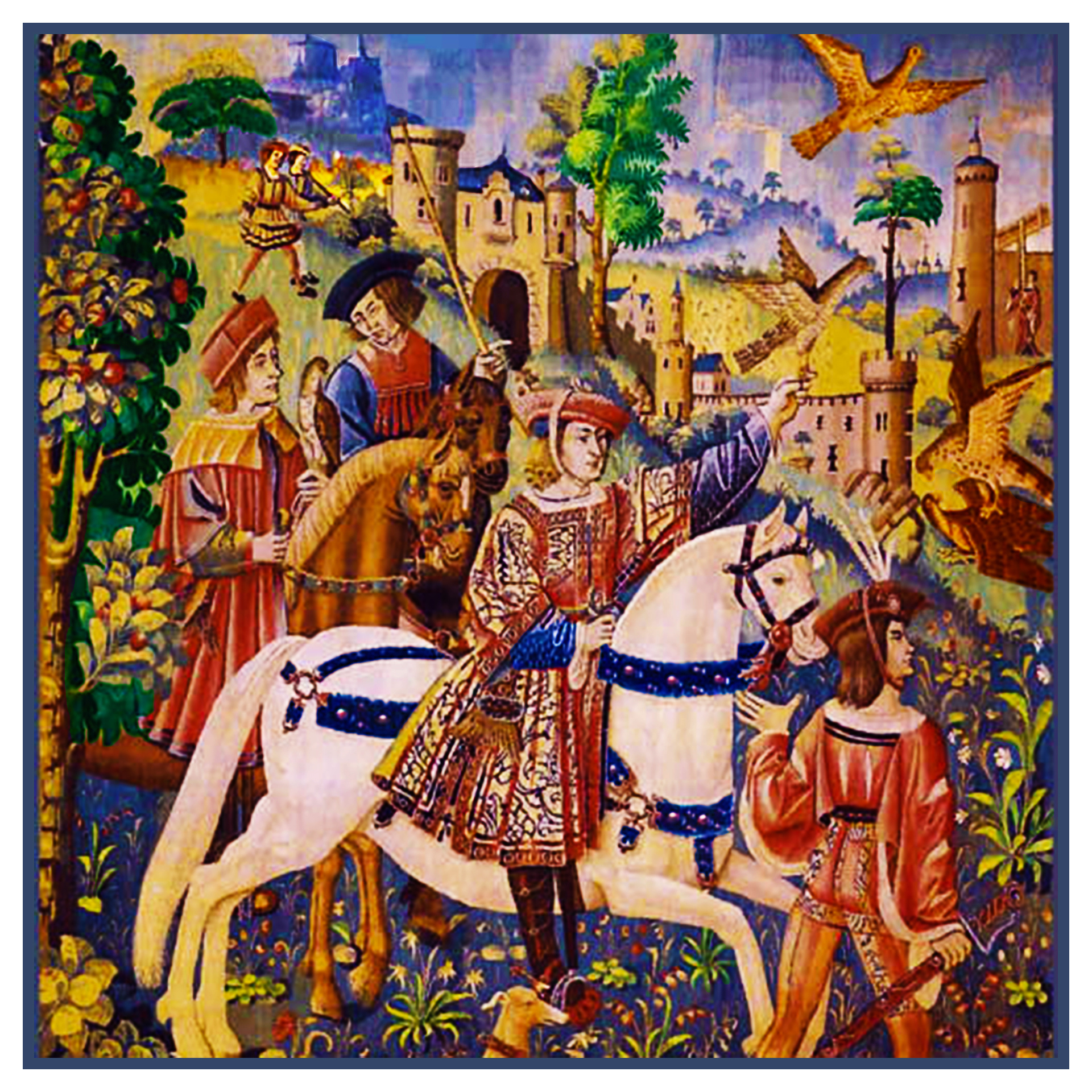 Orenco Originals The Hunters Enter The Woods from The Hunt The Unicorn Tapestries Counted Cross Stitch Pattern