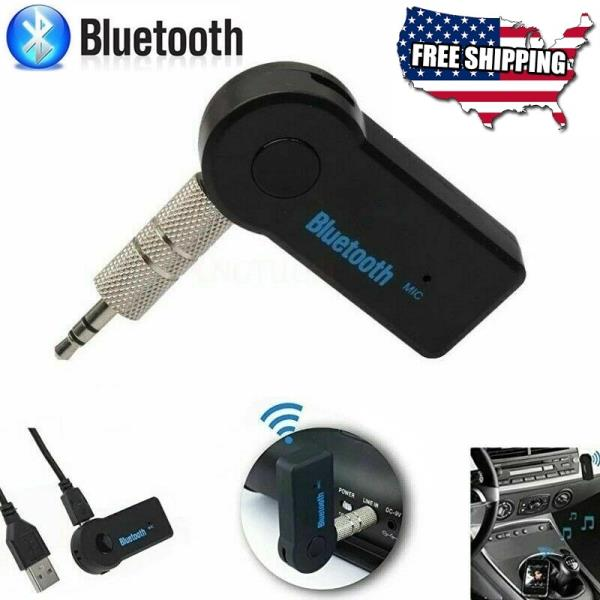 New Wireless Bluetooth 4.2 AUX 3.5mm Audio Stereo Music Car Receiver Adapter Mic