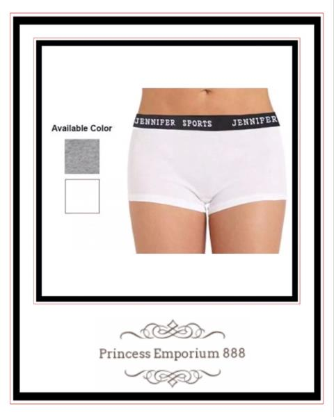 Jennifer Sports New Ladies Yoga Boy Shorts Pants Available in Grey or White